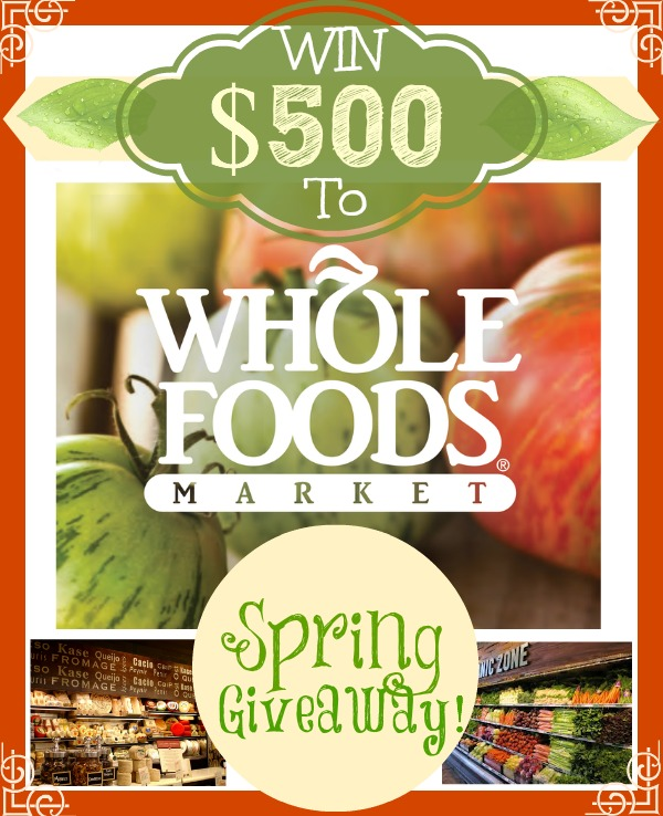 $500 Whole Foods Giveaway - Enter at averiecooks.com