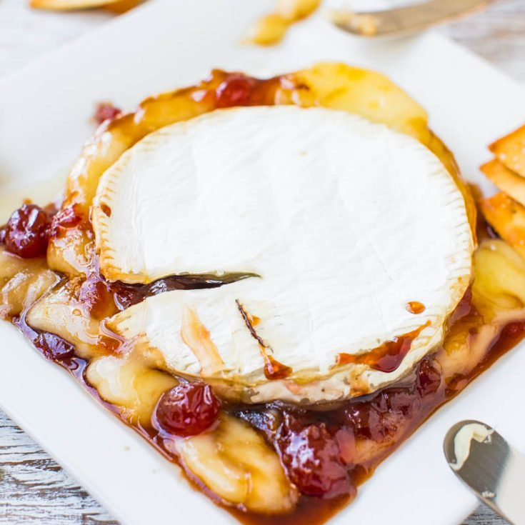 The Best Baked Brie with Balsamic Cherries