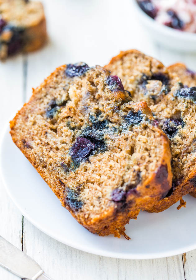 Brown Sugar Blueberry Banana Bread