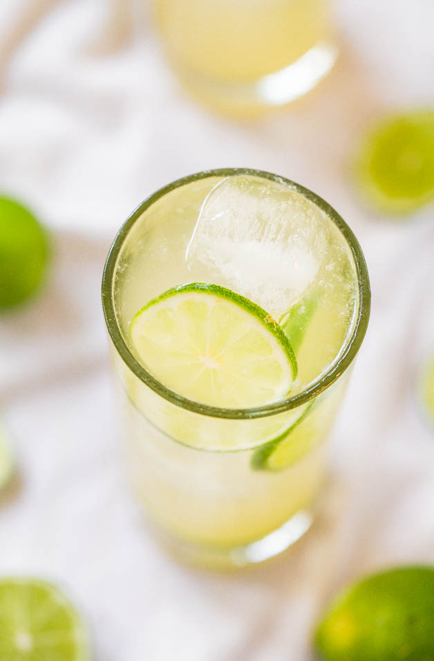 homemade Margarita made from a simple margarita recipe with just 3 ingredients
