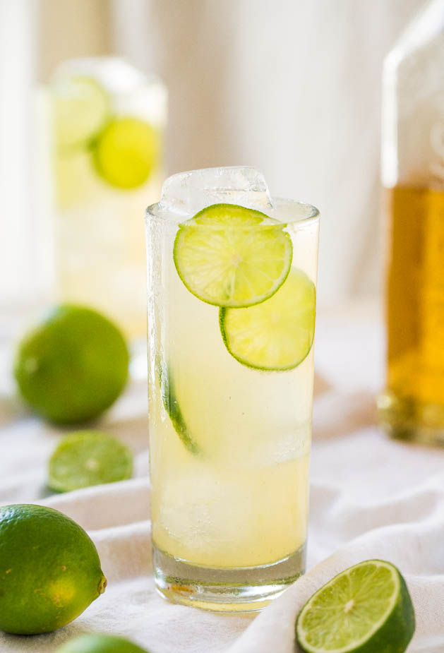 Homemade margarita made with just 3 margarita ingredients