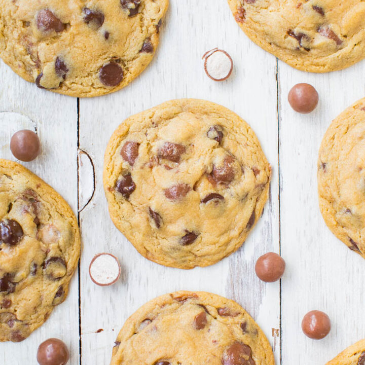 Malted Milk and Whoppers Chocolate Chip Cookies