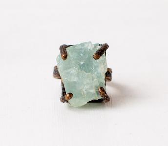 Aquamarine regal ring