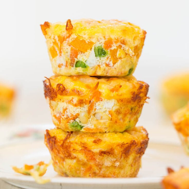 100-Calorie Cheese, Vegetable and Egg Muffins