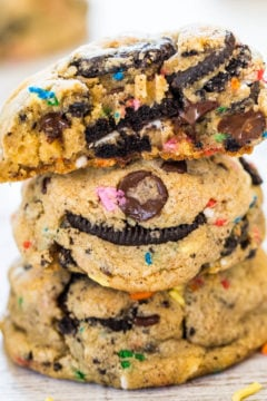 FUNFETTI®-Inspired Oreo and Sprinkles Chocolate Chip Cookies