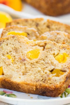 Peach Mango Coconut Oil Banana Bread