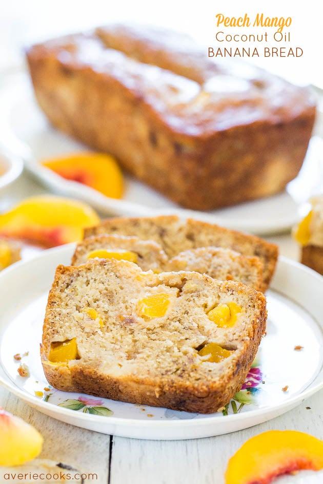 Cream cheese filled banana bread averie cooks peach mango coconut oil banana bread the softest moistest banana bread that tastes like forumfinder Gallery