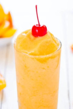 Tropical Peach Pineapple Slushies