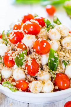 Tomato Mozzarella Salad with Basil and Quinoa