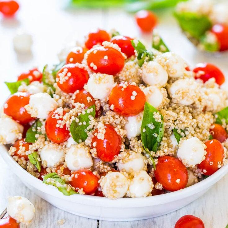 Tomato Mozzarella Salad with Basil and Quinoa