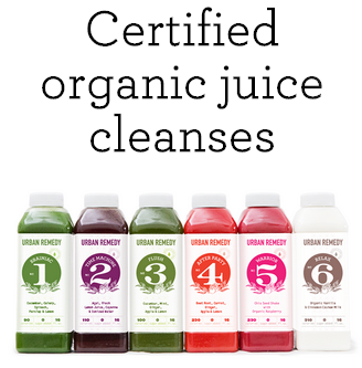 Certified organic juice cleanse bottles