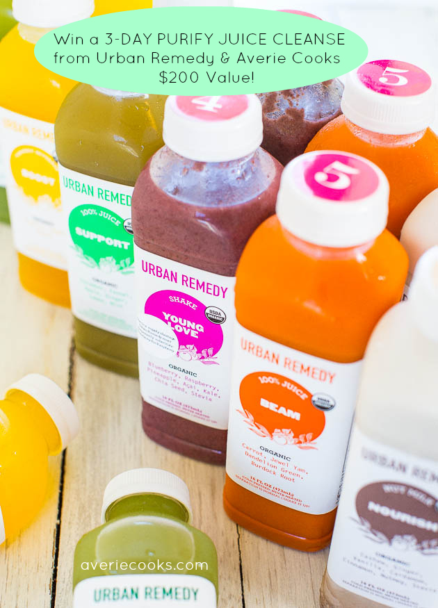 Win a 3-Day Purify Juice Cleanse from Urban Remedy and Averie Cooks!