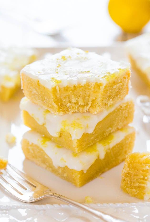 Lemon Lemonies — Like lemon brownies, but made with lemon and white chocolate!