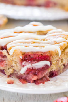 Soft and Fluffy Strawberry Banana Cake