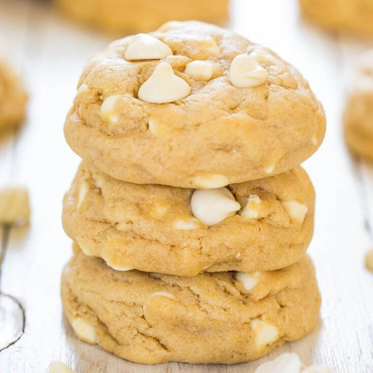 Soft and Chewy Cream Cheese White Chocolate Chip Cookies
