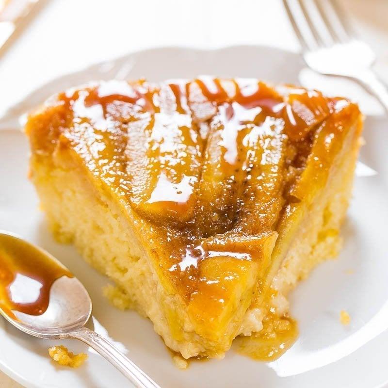 Caramelized Banana Upside-Down Cake - Averie Cooks