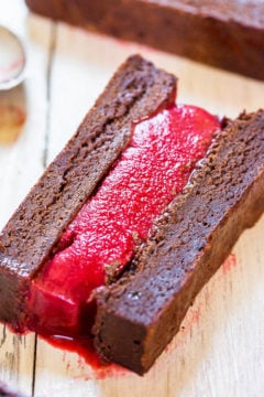 Fudgy Brownie and Raspberry Ice Cream Sandwiches
