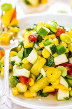 Sweet and Sour Zucchini Corn Salad