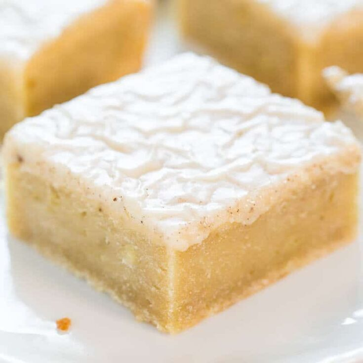 Banana Bars with Browned Butter Vanilla Glaze