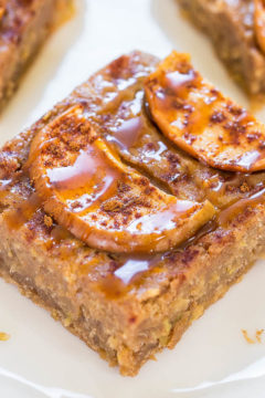 Caramel Apple Cinnamon Bars