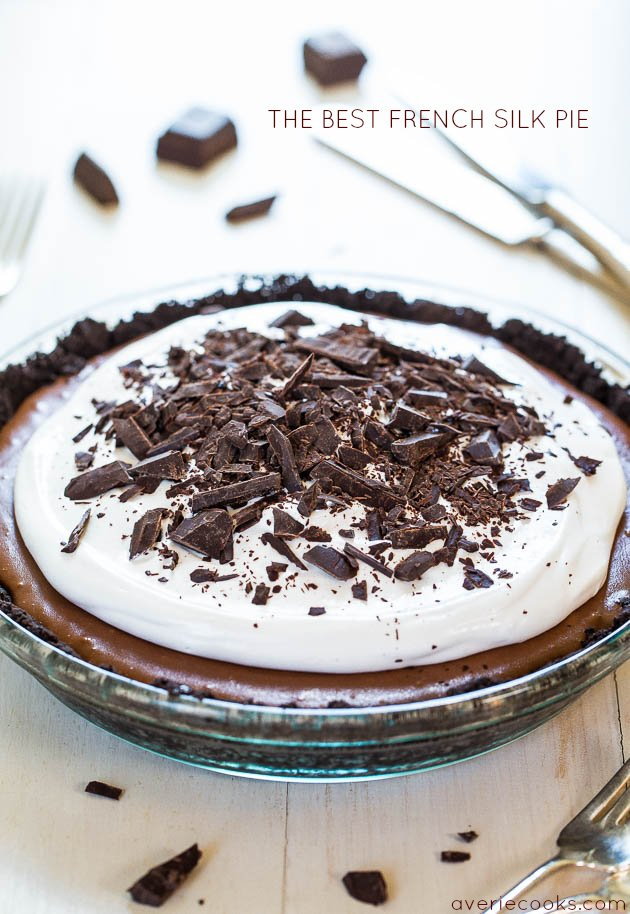 The Best French Silk Pie - Homemade French Silk is the most amazing thing ever! You HAVE to make this! Beyond words how crazy good it is!!