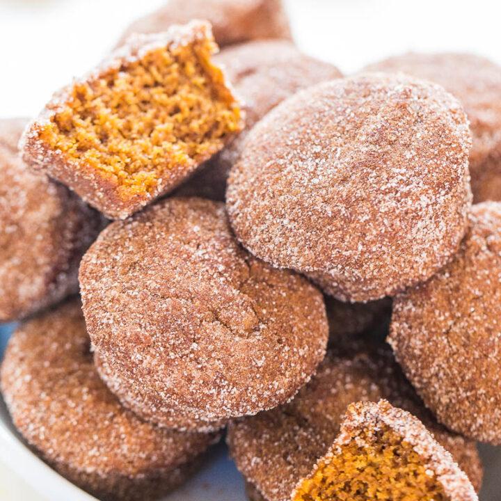 Cinnamon Sugar Mini Pumpkin Muffins