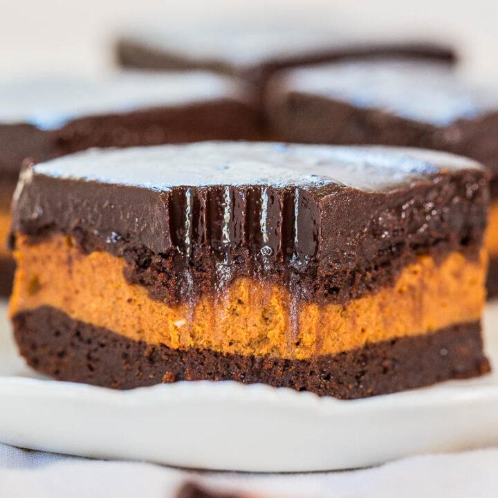 The Best Pumpkin Cream Cheese-Filled Brownies