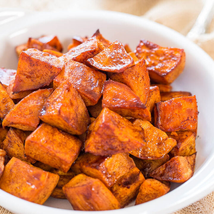 Honey Roasted Sweet Potatoes Honey Cinnamon Dip Averie Cooks
