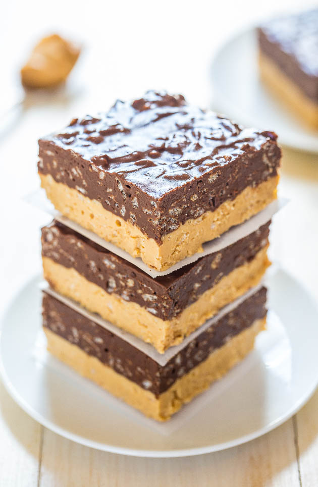No Bake Peanut Butter Chocolate Crispies With PB 'Fudge' Recipes ...