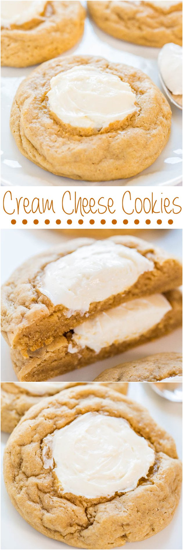 Cream Cheese Cookies - Big, soft, buttery cookies with sweet and tangy ...