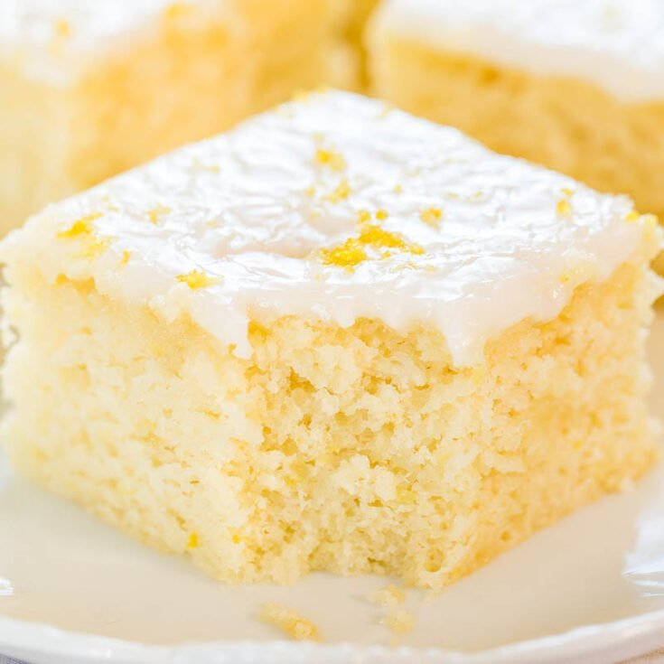 Lemon Buttermilk Cake with Lemon Glaze