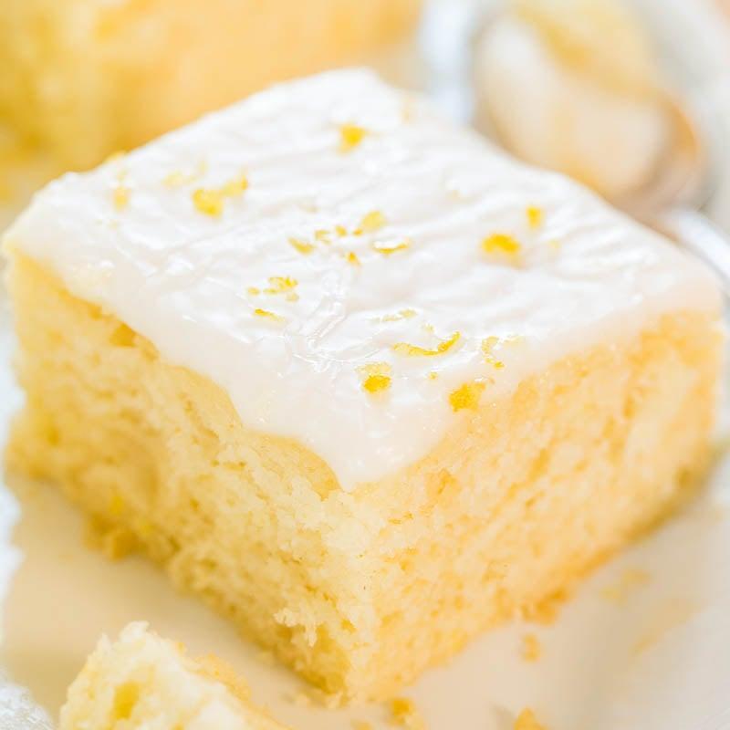 Lemon Buttermilk Cake Easy Lemon Glaze Averie Cooks