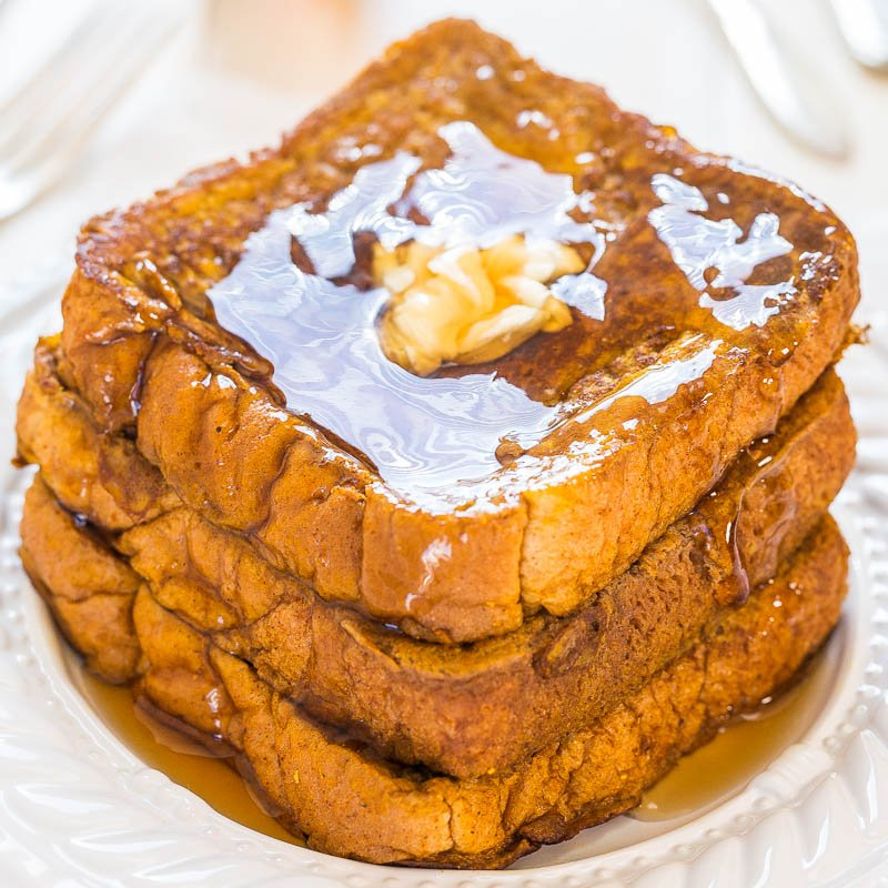 Pumpkin French Toast - Averie Cooks