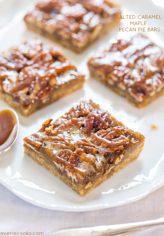 The bars are a spinoff of Salted Caramel and Chocolate Pecan Pie Bars ...