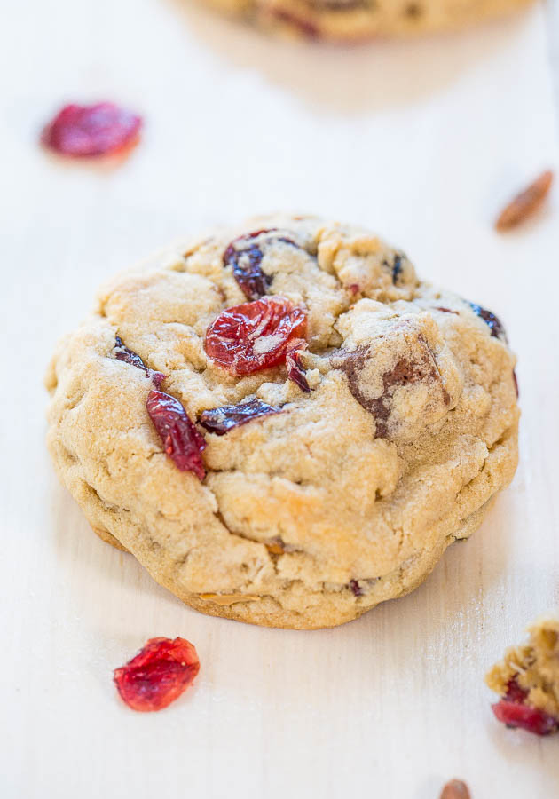 Trail Mix Protein Bar Cookies - Packed with your favorite trail mix goodies, even protein bars!! Soft, chewy, and accidentally healthy!!!