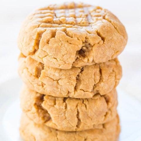 4-Ingredient Peanut Butter Cookies (Bisquick Cookies!) - Averie Cooks