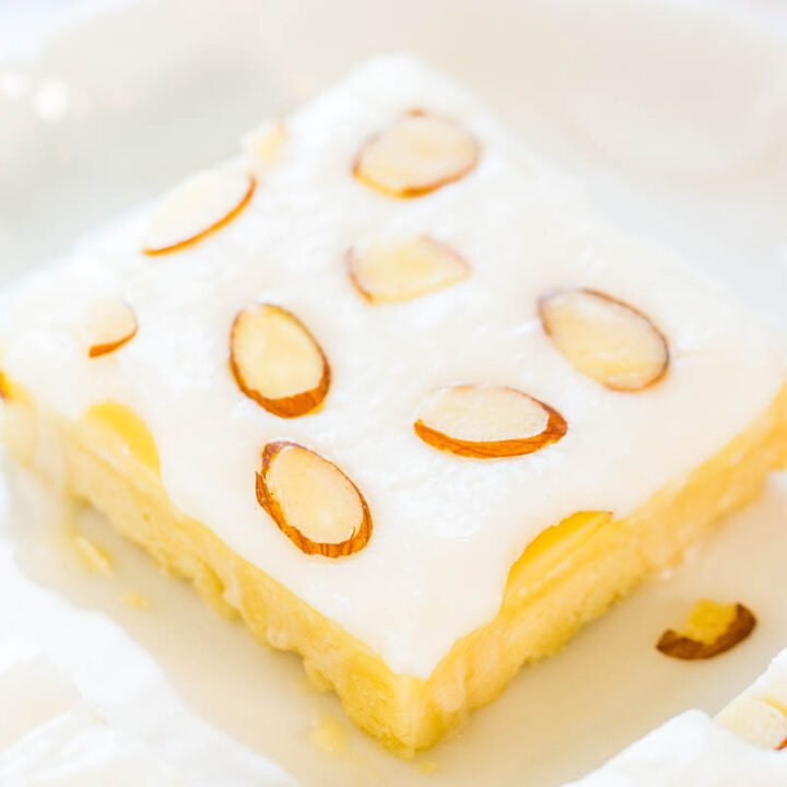 Almond Cream Cheese Shortbread Bars