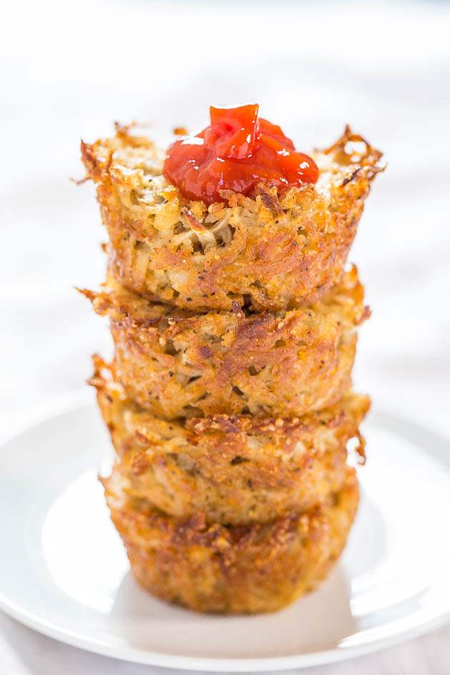 Baked Parmesan Hash Brown Cups - Easiest hash browns ever! No stovetop ...