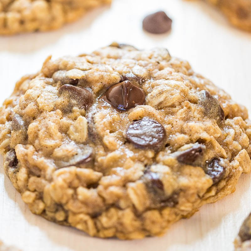 The Best Oatmeal Chocolate Chip Cookies - Averie Cooks