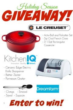 Holiday Season Le Creuset and More Giveaway