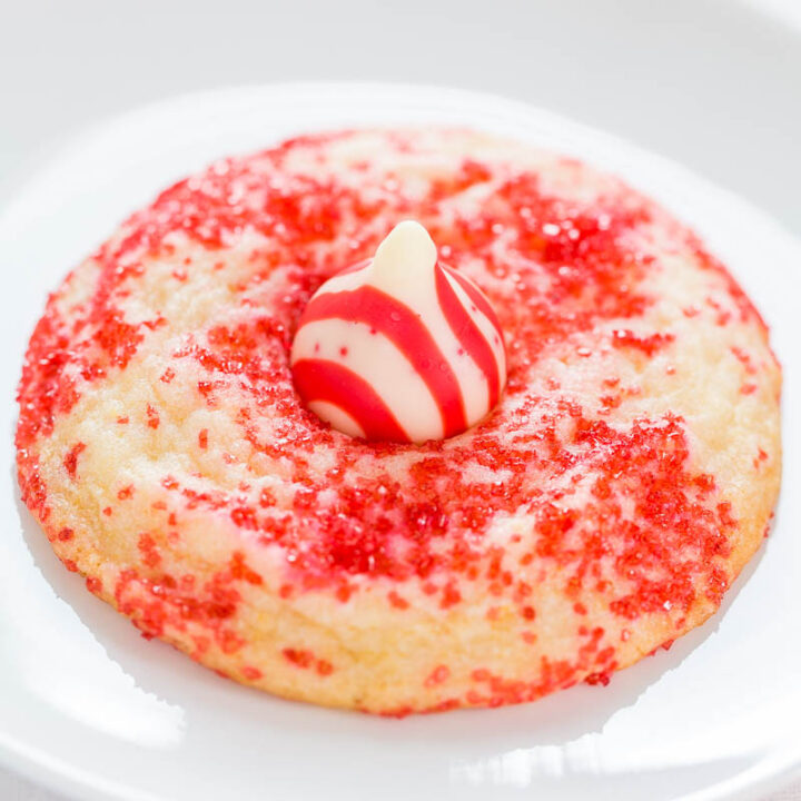 Candy Cane Blossom Sugar Cookies