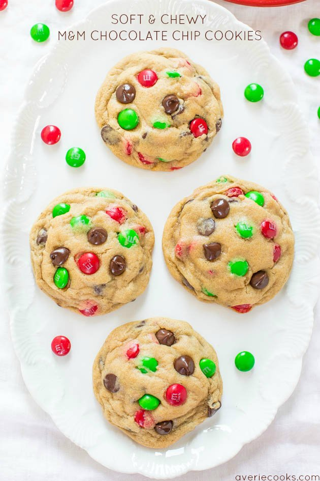 Soft And Chewy M M Chocolate Chip Cookies