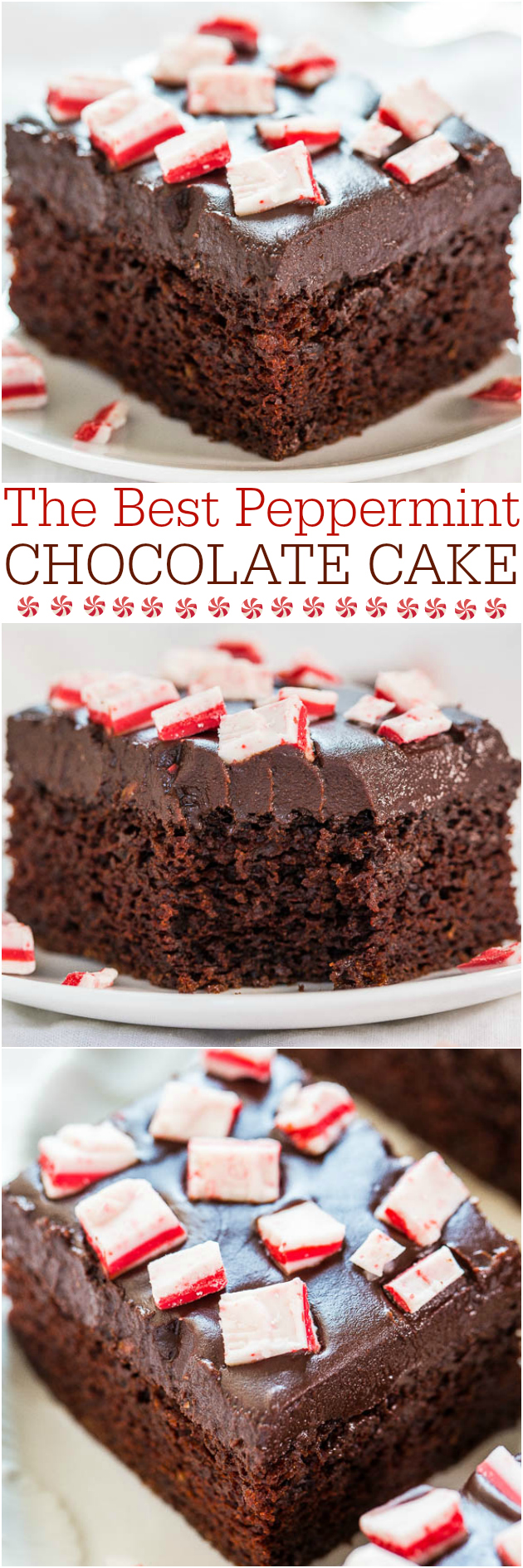 The Best Chocolate Peppermint Cake — Easy, one-bowl, no mixer cake! Decadently chocolaty, perfectly pepperminty! Your new favorite cake!!