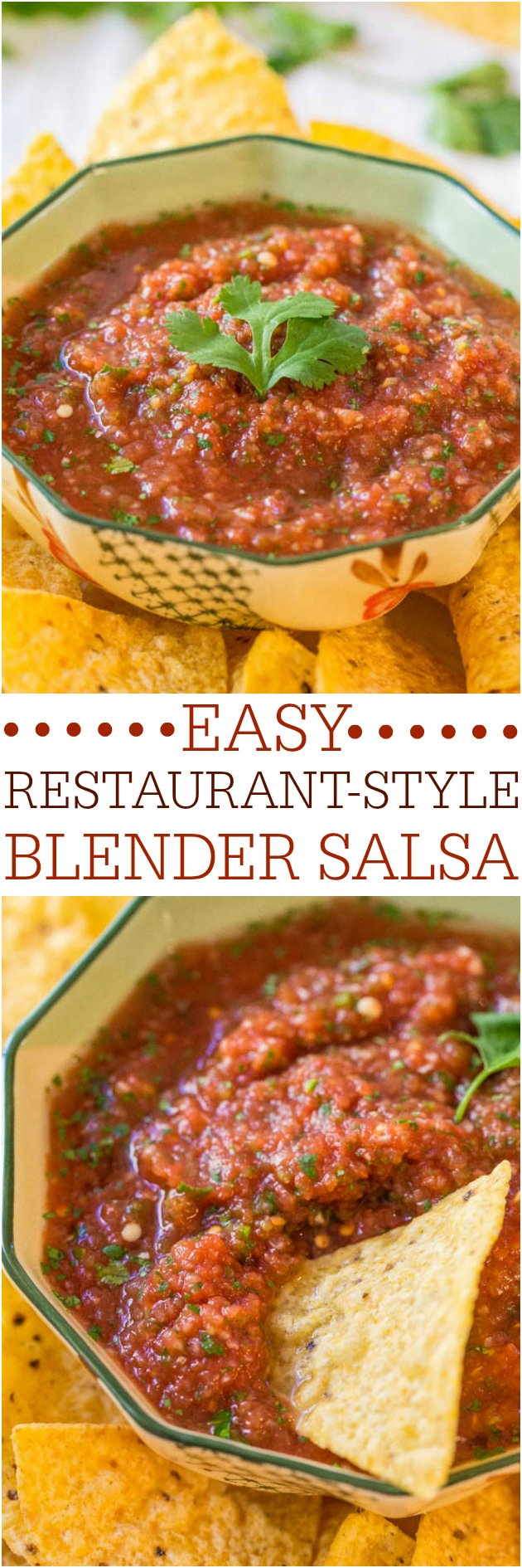 Easy salsa recipe that makes restaurant style salsa