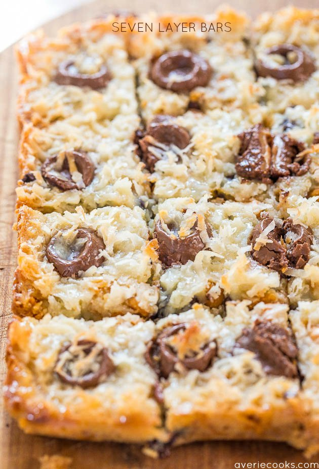 Rolo Seven Layer Bars - The classic bar tastes even better with Rolos!