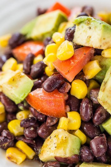 Black Bean Corn Avocado Salad with Cumin Lime Vinaigrette