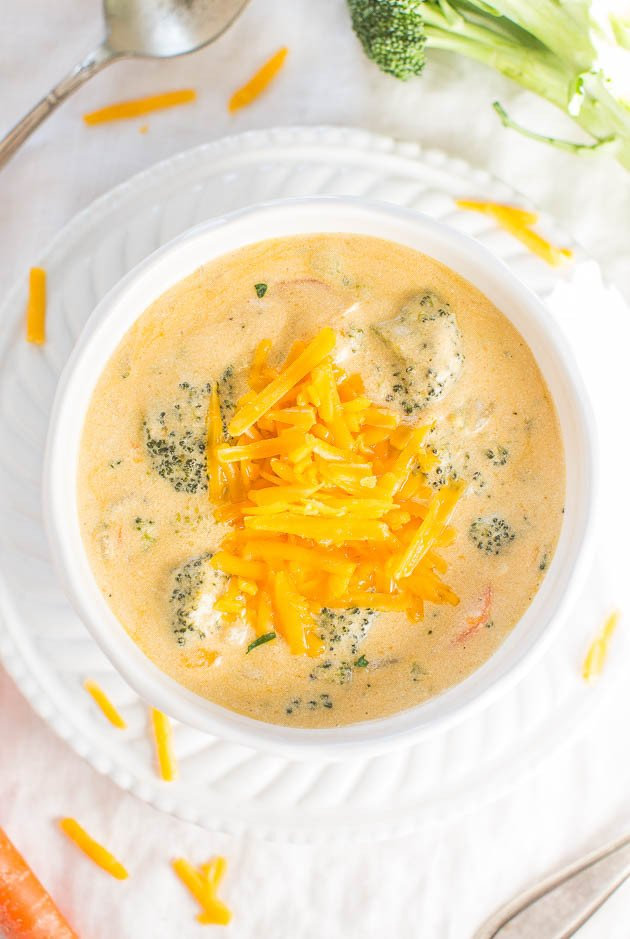 The Best Broccoli Cheese Soup Better Than Panera Copycat Averie