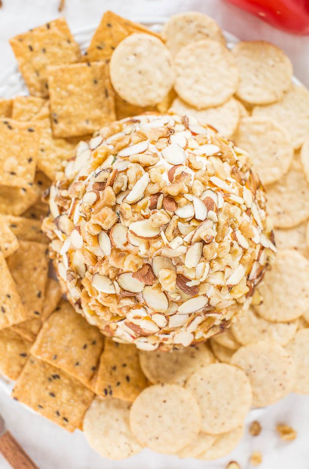 Easy Jalapeño Cheese Ball — Just spicy enough that the more you have, the more you want!! A fast, easy, and foolproof hit!!