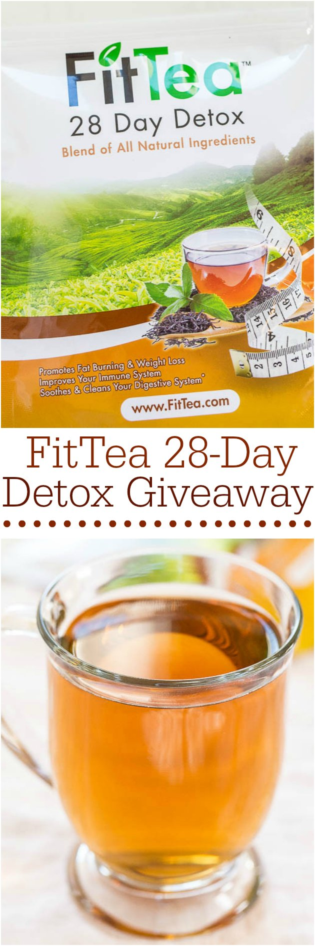 FitTea 28-Day Detox Giveaway - Give us a few weeks and you'll feet great! Fit Tea is your #1 health solution that promotes weight loss and gives you tons of energy!