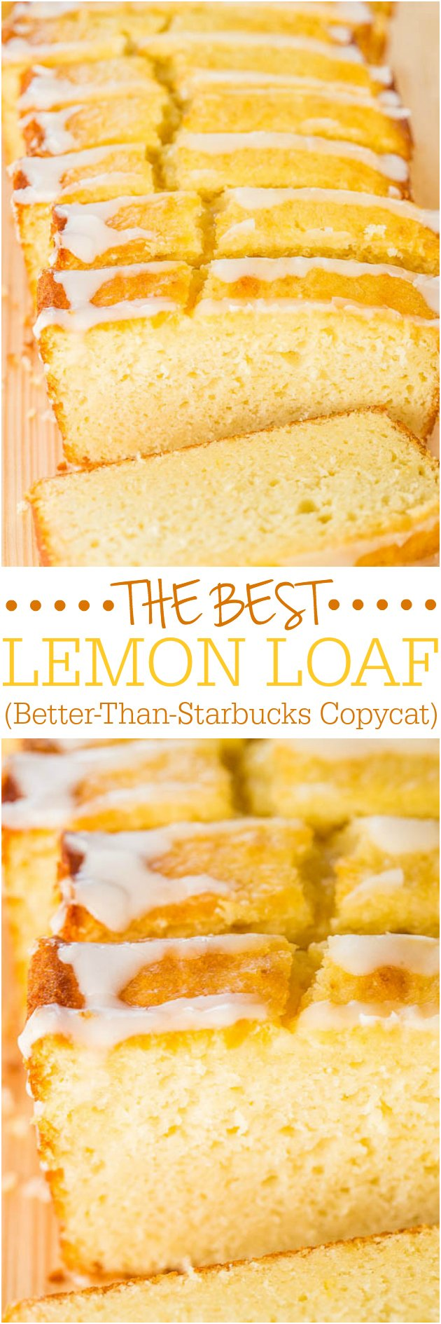 The Best Lemon Loaf (Better-Than-Starbucks Copycat) — It took years, but I finally recreated it!! Easy, no mixer, no cake mix, dangerously good, and SPOT ON!! You're going to love this lemon pound cake recipe!